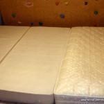 Matratzen als Crashpad verwendet