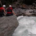 Gefahren im Wildwasser Besichtigung