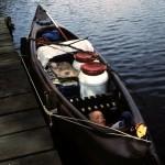 Kanuwandern-Gepäck im Kanadier