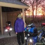 Kälte im Morgengrauen