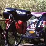 mit Fahrrad Anhänger in Dänemark