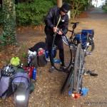 Reifenpanne und Flickzeug