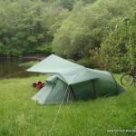 Zelt und Tarp - Großbritannien-Radreise