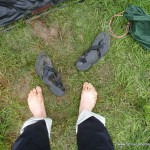 Sumpfiger Zeltplatz