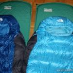 Outdoor-Schlafsack mit Schlafmatte