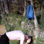 Wasserbeutel als Felddusche
