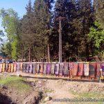 Textilverkauf an der Straße