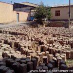 Lehmziegel-Herstellung