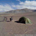 Zelten am Pamir Highway
