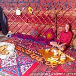 in der Jurte in Tadschikistan