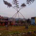 Bambus-Schaukel in Nepal