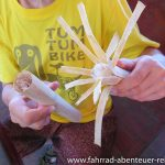 Reis im Bambus-Rohr
