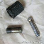 Freilauf demontieren mit Werkzeug Marke Eigenbau