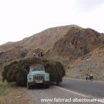 Heutransport auf dem Taldyk-Pass