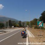 Radeln auf der Autobahn