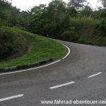 Steile Straßen in Malaysia