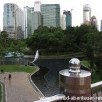 Der Park hinter den Petronas-Twin-Towers