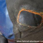 Reparatur an Fahrrad-Packtaschen