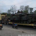 Militär-Schwertransport