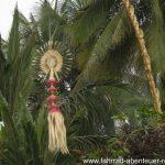 Zierde aus Pflanzen am Hindu-Tempel