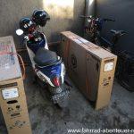 die Fahrrad-Kartons