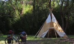Zelt für Radreisen