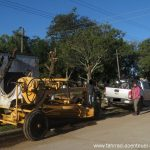 alte Straßenbau-Maschine