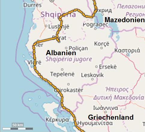 Albanien-Süd