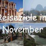 Reiseziele im November
