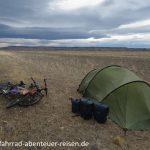 Wind in Patagonien - schwierige Zeltplatzsuche