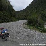 Schotterpiste Carretera Austral per fahrrad
