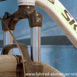 Fahrrad Federgabel mit Bremsbooster