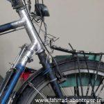 Fahrradrahmen repariert