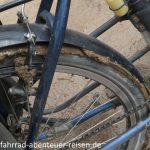 Schlamm am Fahrrad in Peru