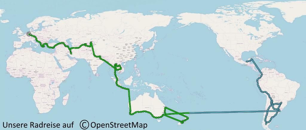 Unsere Weltreise per Fahrrad - Der Plan