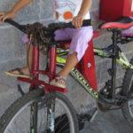 Fahrrad Kindersitz in Mexiko