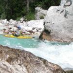 Wildbach in den Alpen