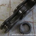 Fahrradkette Innenlaschen und Rolle