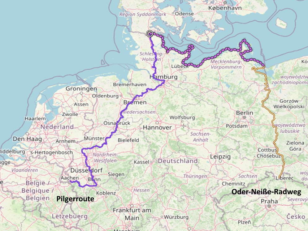 Ostseeküstenradweg-Pilgerrpute-Oder-Neiße-Radweg