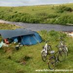 Zelten auf Radreisen und Fahrradtouren
