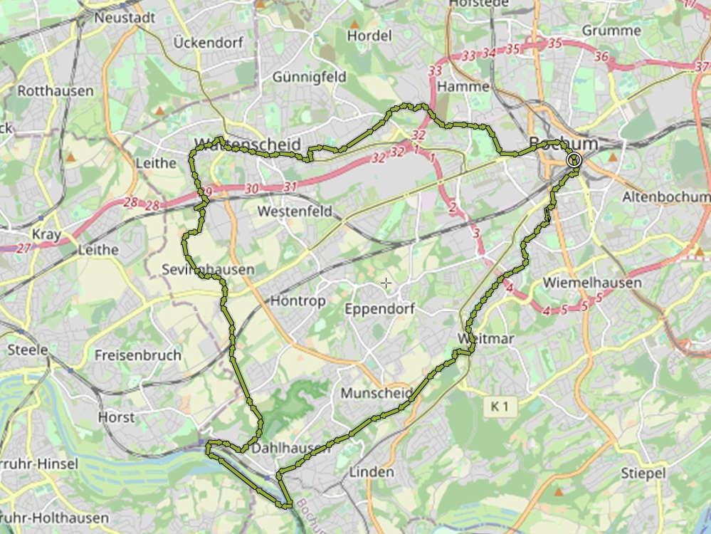 Dahlhausen-Wattenscheid Radtour
