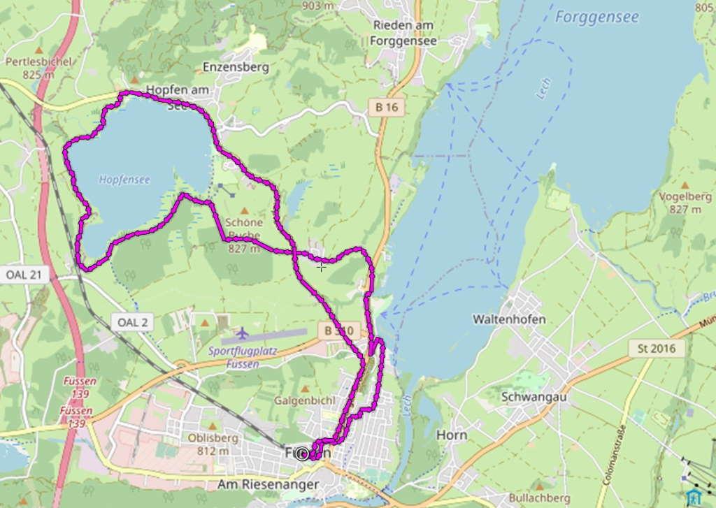 Forggensee-Hopfensee-Radrunde