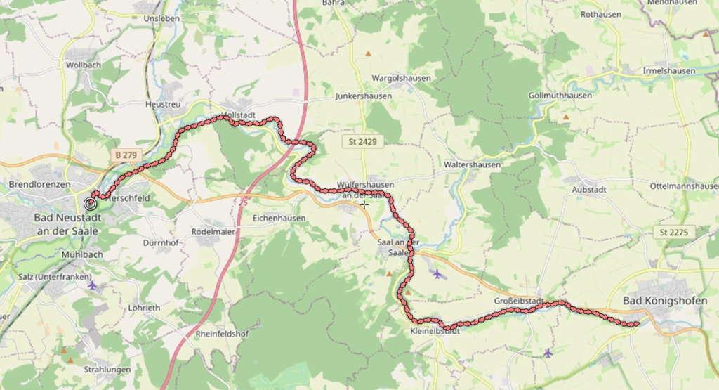 Fränkische Saale Radweg