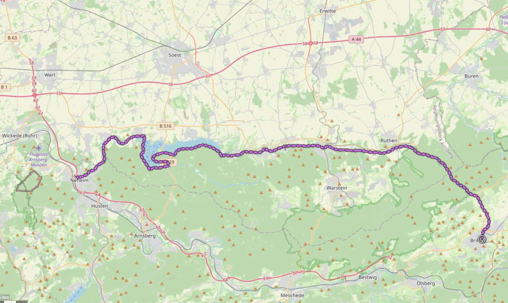 Möhnetal-Radweg
