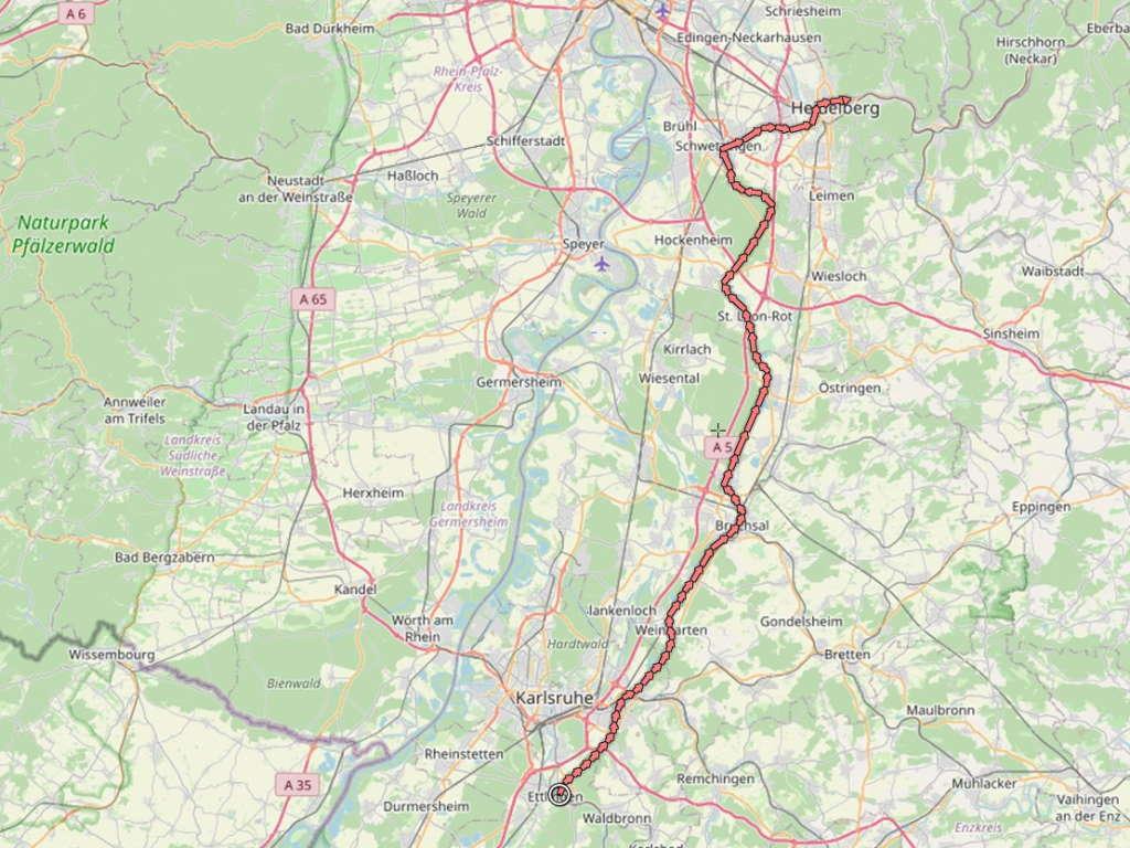 Paneuroparadweg am Oberrhein