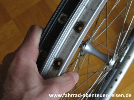 Fahrradfelge austauschen, erneuern, ersetzen