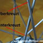 überkreuzt - unterkreuzt - Fahrradfelge austauschen